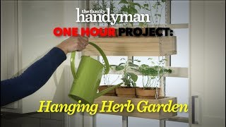One Hour Project: Hanging Herb Garden