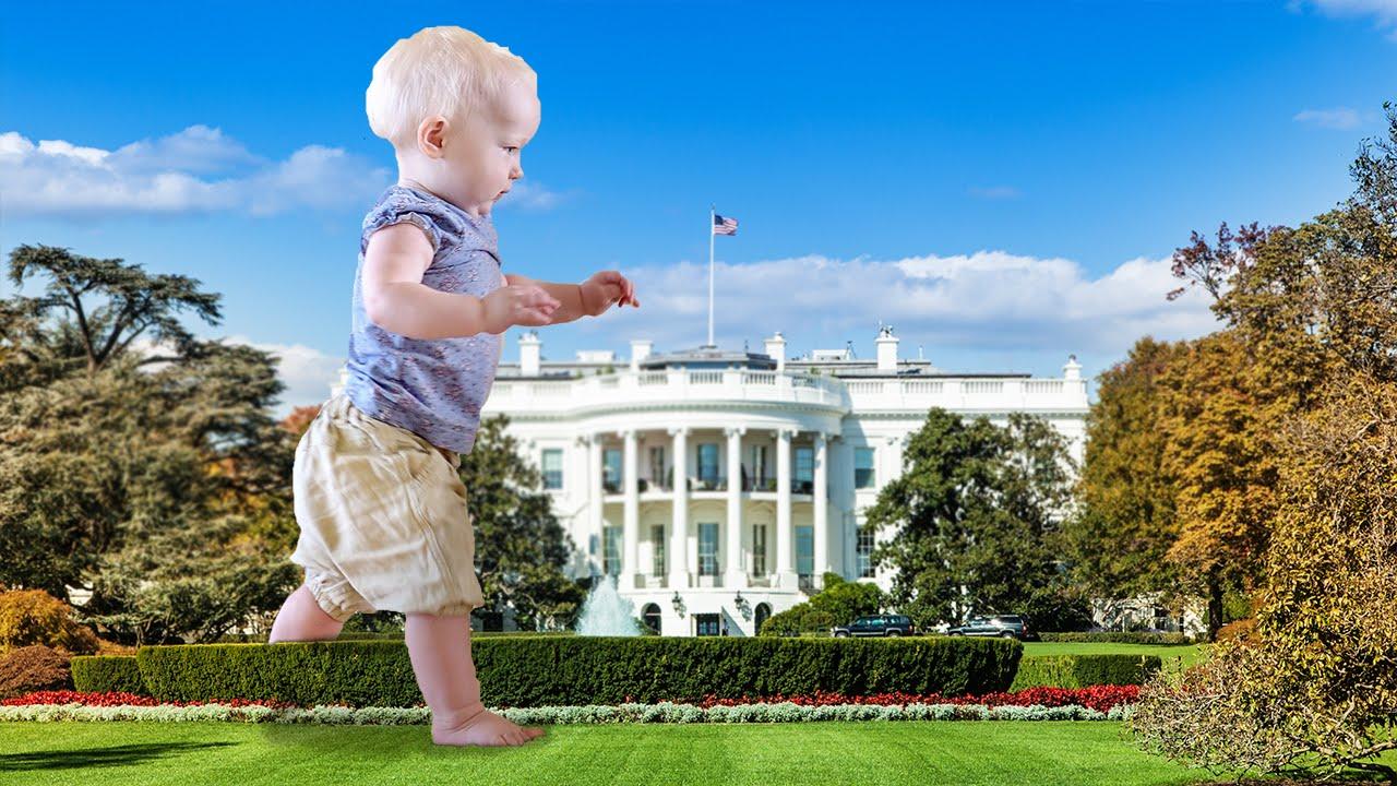 Terror Toddler Invades White House Lawn thumbnail