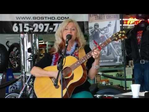 Karen McNatt playing at Bost Harley Davidson for the NashvilleEar.com Songwriter Stage