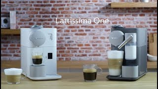 Lattissima One - Directions for use for milk system