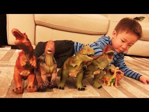 "HUGE 14"" Jumbo Soft Dinosaur Figures 4-Set, Realistic Looking (Spinosaurus, Parasaurolophus, etc"