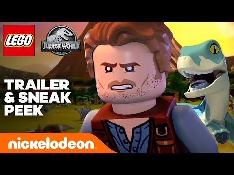 LEGO Jurassic World 🦕 OFFICIAL TRAILER + Sneak Peek | Nick