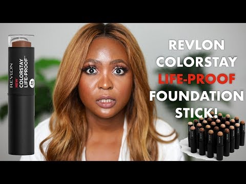 REVLON COLORSTAY LIFE-PROOF FOUNDATION STICK | Review + All Day Wear Test!
