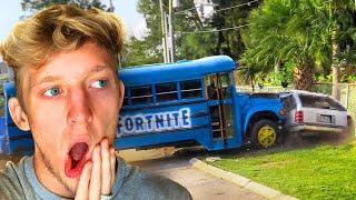 I CRASHED THE FORTNITE BATTLE BUS