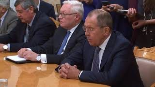 Вступительное слово С.Лаврова в ходе переговоров с М.Д.Зарифом