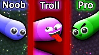 NOOB vs PRO vs TROLL in Slither.io