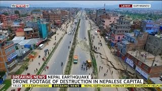 Drone Footage Shows Nepal Earthquake Damage