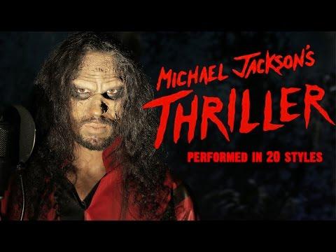 Synger «Thriller» som 20 forskjellige artister