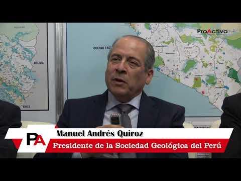 Manuel Quiroz - Presidente de la Sociedad Geológica del Perú