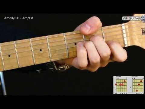 Gitarrenakkorde: A-Moll/F# - Am/F# chord