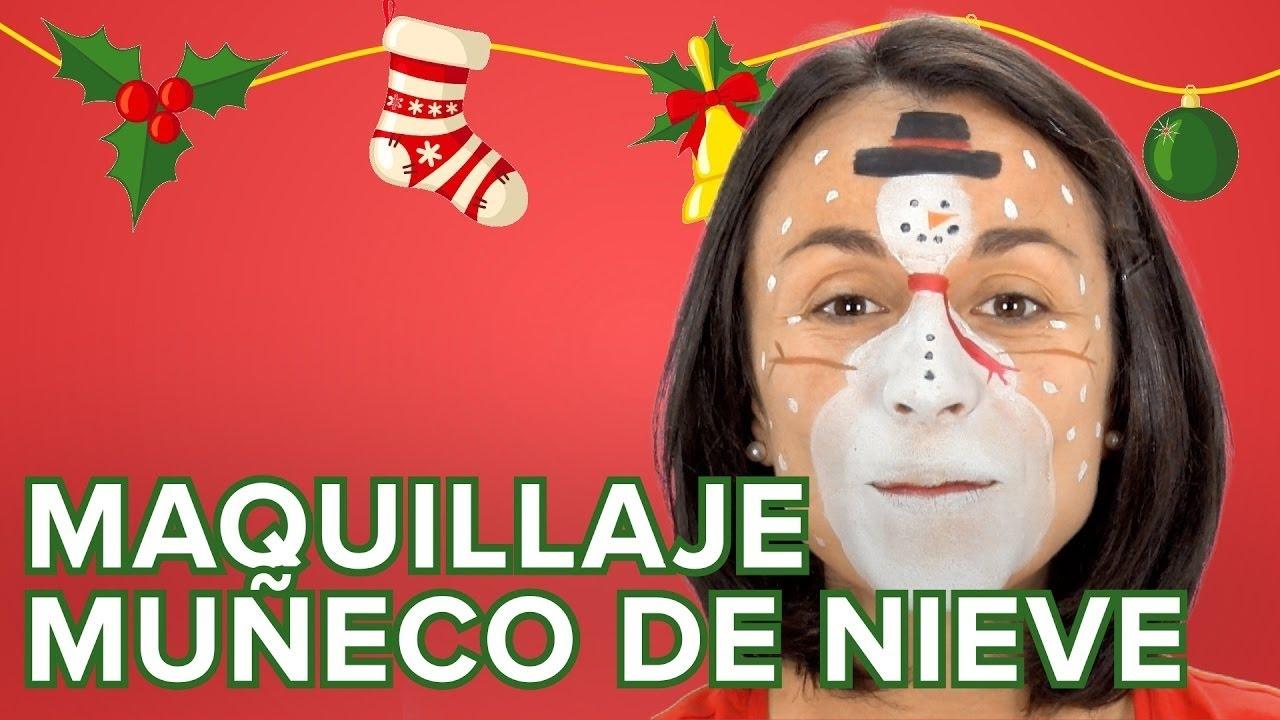 Maquillaje de muñeco de Nieve para Navidad