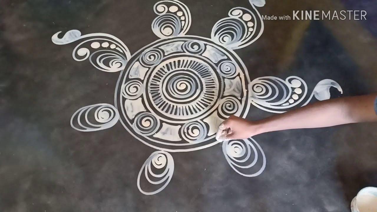 wedding alpana rangoli design by mukesh arts