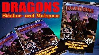 Dragons - Sticker- und Malspass !!! über 500 Stickers !!! Vorstellung / Review