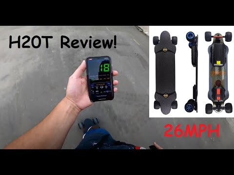 TeamGEE H20T Electric Skateboard Review | 26MPH Off Road BOARD!