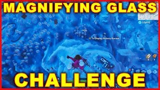 Fortnite: Search Where the Magnifying Glass Sits (BATTLE STAR CHALLENGE) Season 8 Week 3