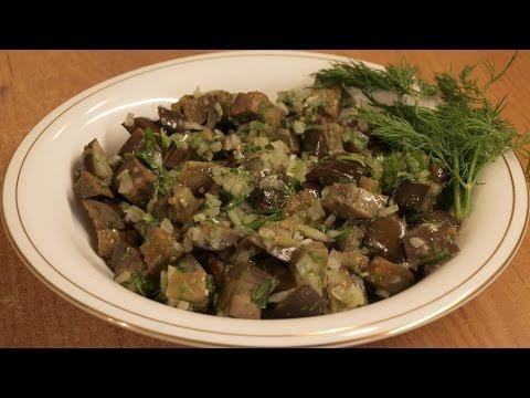 Салат из маринованных баклажанов / Pickled eggplants salad ♡ English subtitles