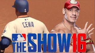 Can John Cena Hit A Inside The Park Home Run?? MLB The Show 16 Celebrity Challenge