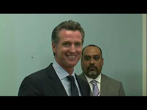 """California Gov.-elect Gavin Newsom says officials at all levels of government need to have a """"sense of urgency"""" in addressing the issue of migrants at the U.S.-Mexico border (Nov. 29)"""