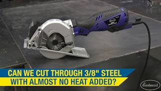 "How to Cut Through 3/8"" Thick Steel Plate & Add Almost No Heat! Mini Metal Saw from Eastwood!"