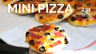 Pizza dough at home - Easy mini pizza for kids -  - فطائر البيتزا