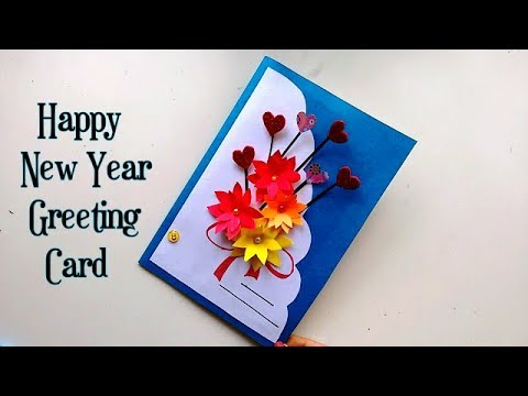 happy new year greeting card popup 3d card handmade card