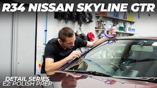 LZ R34 Nissan Skyline GTR Midnight Purple III Vspec Detail Series E2: Polish Prep
