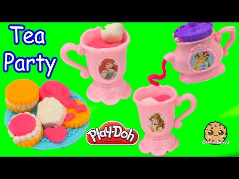 Frozen Queen Elsa Anna Have Play Doh Disney Princess Tea Cookie