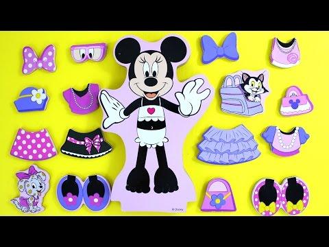 Minnie Mouse  Muñeca  magnéticas para vestir • Juguetes de Minnie Mouse