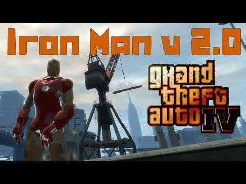 GTA IV. Iron Man v 2.0. Железный человек. Супер скрипт (мод).