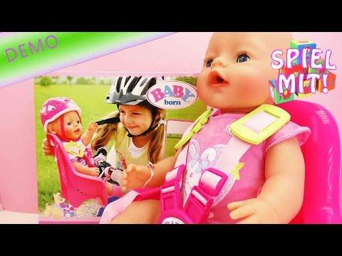 Baby Born Fahrrad Set - Fahrradsitz für unsere Baby born Puppe - Unterwegs Set