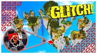 UNDER THE MAP BED WARS GLITCH! *works* (Minecraft BED WARS Trolling)