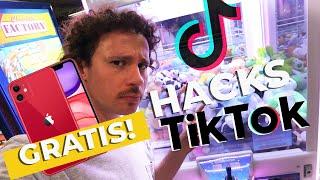 Probando HACKS de TikTok: iPhone GRATIS y máquina de GARRA! 😱