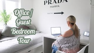 OFFICE + GUEST BEDROOM MAKEOVER TOUR | DECOR IDEAS AND INSPIRATION | ELLIE POLLY