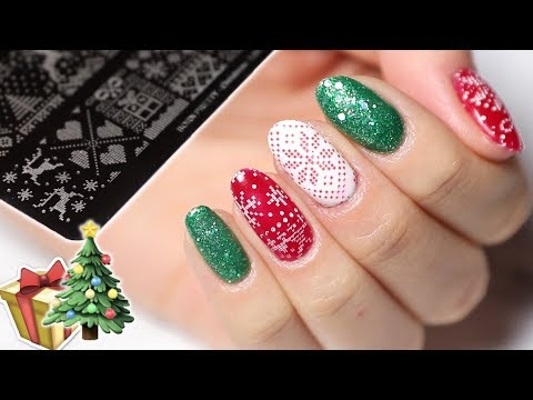 Xmas Stamping On Gel Polish  🎄 Tips And Tricks