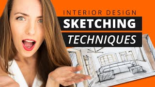 Interior Design Sketching Techniques - Drawing Like A PRO!