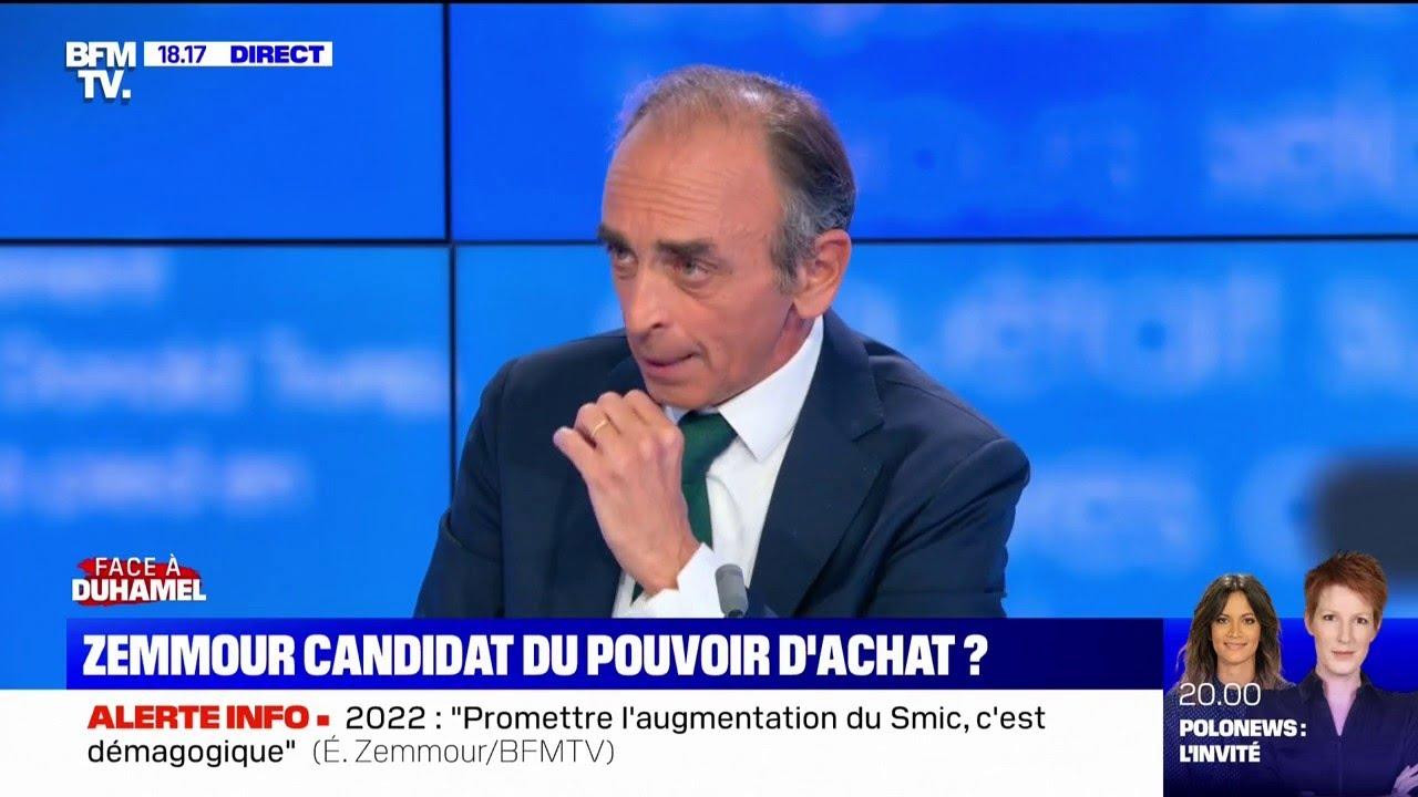 """Éric Zemmour: """"Globalement, la France ne travaille pas assez, n'a pas assez d'activité"""""""