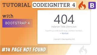 14 Custom 404 Page Not Found - Tutorial CodeIgniter 4 & Bootstrap 4