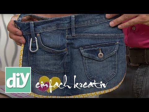 Gartenschürze aus alten Jeans   DIY einfach kreativ