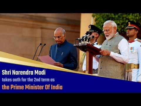 Shri Narendra Modi takes oath for the 2nd term as the Prime Minister of India   PMO