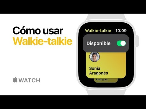 Apple Watch Series 4 — Cómo usar Walkie-talkie — Apple (ES)