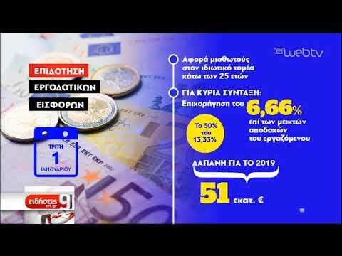 Επιδοτείται το 50% των εργοδοτικών εισφορών για νέους κάτω των 25 | 10/12/2018 | ΕΡΤ