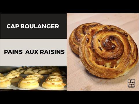 Boulangerie Pas à Pas N°6: Comment détailler 12 Pains aux raisins CAP boulanger
