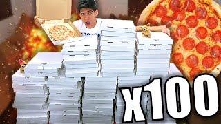 ¡REGALANDO 100 PIZZAS en la CALLE! - [ANTRAX] ☣