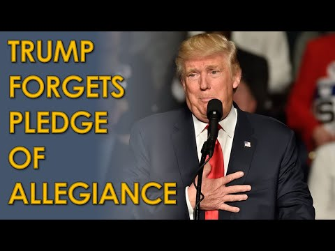 """Donald Trump FORGETS Pledge of Allegiance; Doesn't say """"Under God"""""""
