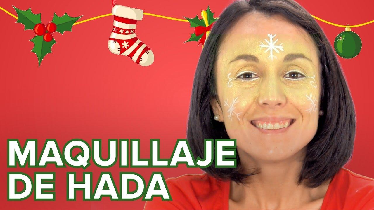 Maquillaje de hada para las niñas en Navidad