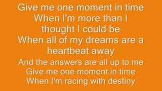 Whitney Houston  One Moment In Time Lyrics