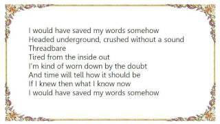 Julia Fordham - Threadbare Lyrics
