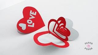 Открытка-валентинка из бумаги своими руками // How to make Valentine