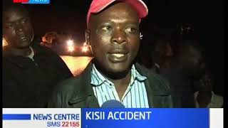Kisii Accident; Over 50 passengers were injured when the bus they were travelling in rolled