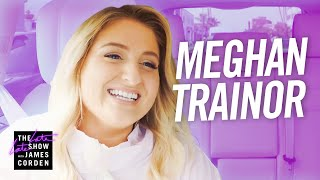 """James Corden asks his friend Meghan Trainor to help him get to work, and the two sing some of Meghan's biggest songs before Dr. Phil surprises them, and Meghan struggles to keep her cool. Spoiler alert: Dr. Phil is all about that bass!  More Late Late Show: Subscribe: http://bit.ly/CordenYouTube Watch Full Episodes: http://bit.ly/1ENyPw4 Facebook: http://on.fb.me/19PIHLC Twitter: http://bit.ly/1Iv0q6k Instagram: http://bit.ly/latelategram  Watch The Late Late Show with James Corden weeknights at 12:35 AM ET/11:35 PM CT. Only on CBS.  Get new episodes of shows you love across devices the next day, stream live TV, and watch full seasons of CBS fan favorites anytime, anywhere with CBS All Access. Try it free! http://bit.ly/1OQA29B  --- Each week night, THE LATE LATE SHOW with JAMES CORDEN throws the ultimate late night after party with a mix of celebrity guests, edgy musical acts, games and sketches. Corden differentiates his show by offering viewers a peek behind-the-scenes into the green room, bringing all of his guests out at once and lending his musical and acting talents to various sketches. Additionally, bandleader Reggie Watts and the house band provide original, improvised music throughout the show. Since Corden took the reigns as host in March 2015, he has quickly become known for generating buzzworthy viral videos, such as Carpool Karaoke."""""""